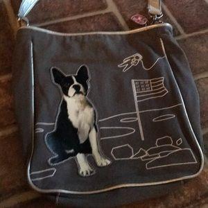 Fuzzy nation Boston terrier purse